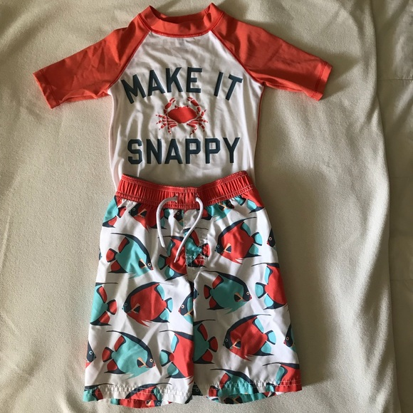 Old Navy Other - RASH GUARD AND SWIMMING TRUNKS-SIZE 5